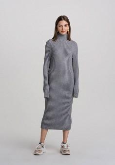 Платье, Befree, цвет: серый. Артикул: BE031EWHCQA6.