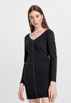 Платье, Befree, цвет: черный. Артикул: BE031EWHCQB7.