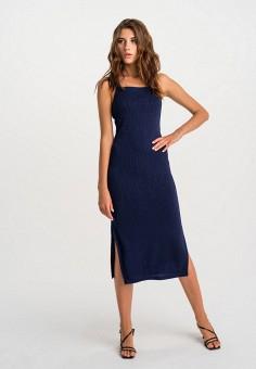 Платье, Befree, цвет: синий. Артикул: BE031EWHCQC9. Одежда / Платья и сарафаны / Вечерние платья