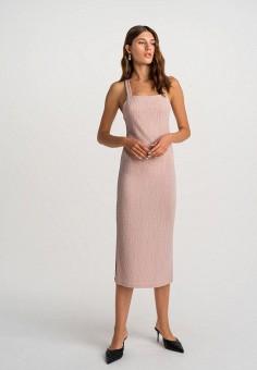 Платье, Befree, цвет: розовый. Артикул: BE031EWHCQD0.