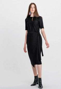 Платье, Befree, цвет: черный. Артикул: BE031EWHCQF8.