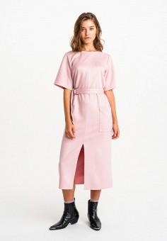 Платье, Befree, цвет: розовый. Артикул: BE031EWHXJI5.