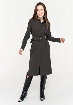 Платье, Befree, цвет: серый. Артикул: BE031EWHXJL5.