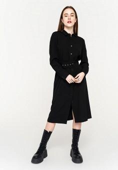 Платье, Befree, цвет: черный. Артикул: BE031EWHXJL6. Одежда / Платья и сарафаны