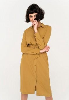 Платье, Befree, цвет: желтый. Артикул: BE031EWHXJL7.