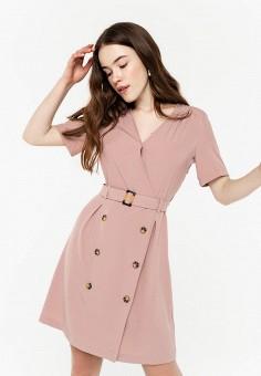Платье, Befree, цвет: розовый. Артикул: BE031EWHXJN7.
