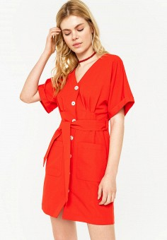 Платье, Befree, цвет: красный. Артикул: BE031EWHXJO7.