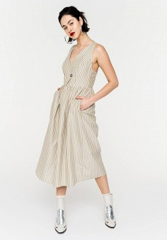 Платье, Befree, цвет: бежевый. Артикул: BE031EWJBCW7.