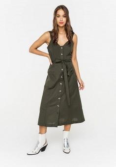 Платье, Befree, цвет: зеленый. Артикул: BE031EWJBCX1.