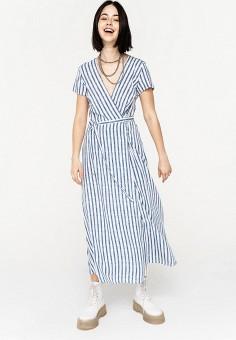 Платье, Befree, цвет: синий. Артикул: BE031EWJBCZ9.