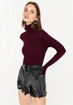 Водолазка, Befree, цвет: бордовый. Артикул: BE031EWKGXJ4. Одежда / Джемперы, свитеры и кардиганы / Водолазки