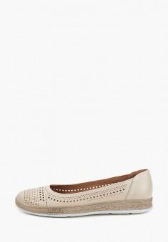Балетки, Belwest, цвет: бежевый. Артикул: BE096AWILFS5. Обувь / Балетки