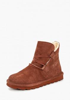 Ботинки, Bearpaw, цвет: коричневый. Артикул: BE223AWCXKN0. Обувь / Ботинки / Высокие ботинки