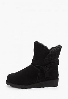 Полусапоги, Bearpaw, цвет: черный. Артикул: BE223AWFWTF1. Обувь / Сапоги / Угги и унты