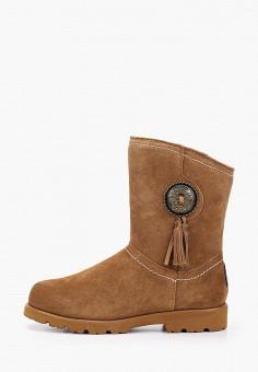 Полусапоги, Bearpaw, цвет: коричневый. Артикул: BE223AWFWTG2. Обувь / Сапоги