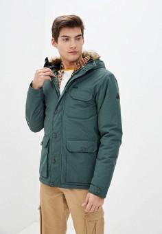 Куртка утепленная, Billabong, цвет: зеленый. Артикул: BI009EMINKS5. Одежда / Верхняя одежда / Пуховики и зимние куртки / Зимние куртки