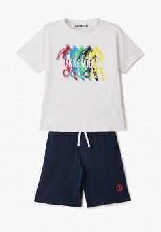 Костюм спортивный, Bikkembergs, цвет: белый, синий. Артикул: BI535EBHNZK0.