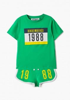 Костюм спортивный, Bikkembergs, цвет: зеленый. Артикул: BI535EBHOAO2.