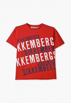 Футболка, Bikkembergs, цвет: красный. Артикул: BI535EBHOAP0.