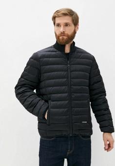 Пуховик, Bikkembergs, цвет: черный. Артикул: BI535EMJWQT1. Одежда / Верхняя одежда / Пуховики и зимние куртки