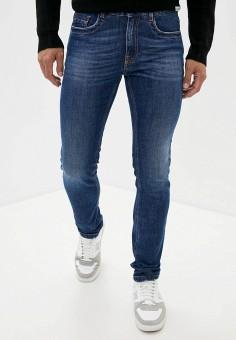 Джинсы, Bikkembergs, цвет: синий. Артикул: BI535EMJWQT4. Одежда / Джинсы / Зауженные джинсы