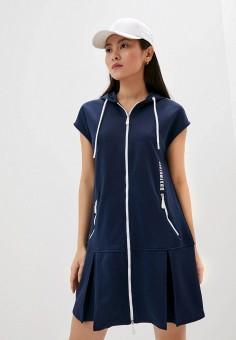 Платье, Bikkembergs, цвет: синий. Артикул: BI535EWHKBF5.