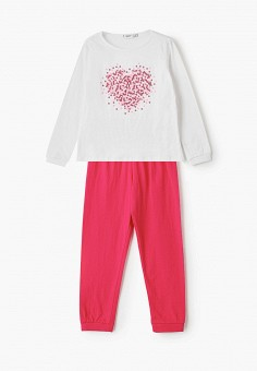 Пижама, Blukids, цвет: белый, розовый. Артикул: BL025EGIBEX3.