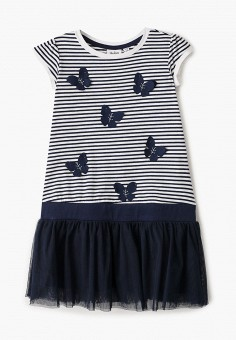 Платье, Blukids, цвет: синий. Артикул: BL025EGIBFC3. Девочкам / Одежда / Платья и сарафаны