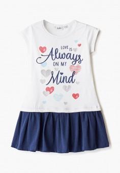 Платье, Blukids, цвет: белый. Артикул: BL025EGIBFC4. Девочкам / Одежда / Платья и сарафаны