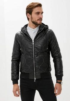 Куртка кожаная, Blouson, цвет: черный. Артикул: BL033EMKKPA1. Одежда / Верхняя одежда / Кожаные куртки