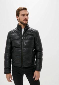 Куртка кожаная, Blouson, цвет: черный. Артикул: BL033EMKKPA7. Одежда / Верхняя одежда / Кожаные куртки
