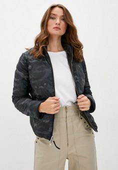 Куртка кожаная, Blouson, цвет: хаки, черный. Артикул: BL033EWKKPB0. Одежда / Верхняя одежда / Кожаные куртки