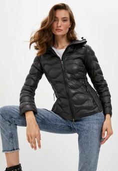 Куртка кожаная, Blouson, цвет: серый. Артикул: BL033EWKKPB1. Одежда / Верхняя одежда