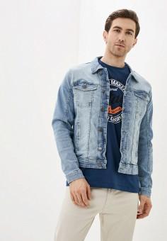 Куртка джинсовая, Blend, цвет: голубой. Артикул: BL203EMHRUU0. Одежда / Верхняя одежда / Джинсовые куртки