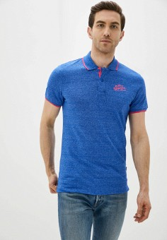 Поло, Blend, цвет: синий. Артикул: BL203EMHRVA2. Одежда / Футболки и поло