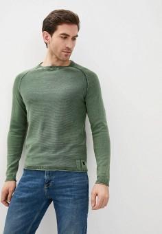 Джемпер, Blend, цвет: хаки. Артикул: BL203EMHRVB7. Одежда / Джемперы, свитеры и кардиганы / Джемперы и пуловеры
