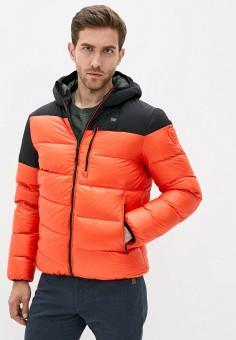 Пуховик, Blauer USA, цвет: хаки, оранжевый. Артикул: BL654EMKCGC4. Одежда / Верхняя одежда / Пуховики и зимние куртки