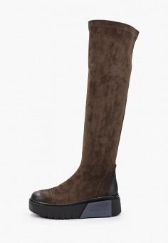 Ботфорты, Bona Dea, цвет: хаки. Артикул: BO027AWKGBK6. Обувь / Сапоги / Ботфорты