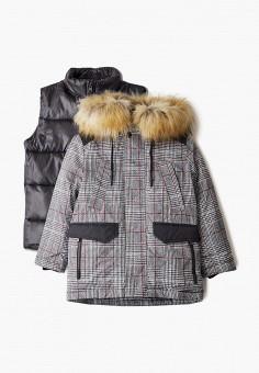 Куртка утепленная, Boom, цвет: серый. Артикул: BO051EBGPRF6. Мальчикам / Одежда / Верхняя одежда / Куртки и пуховики
