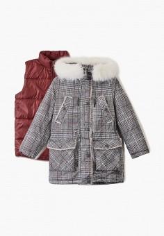 Куртка утепленная, Boom, цвет: серый. Артикул: BO051EGGPRD3. Девочкам / Одежда / Верхняя одежда / Куртки и пуховики