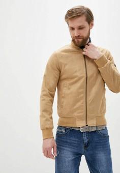 Куртка кожаная, Boston, цвет: бежевый. Артикул: BO074EMIRWX1. Одежда / Верхняя одежда / Кожаные куртки