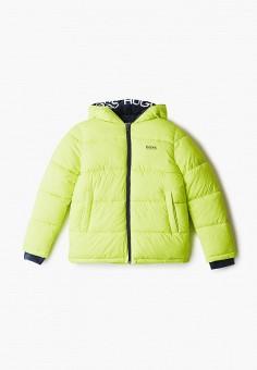 Куртка утепленная, Boss, цвет: желтый. Артикул: BO246EBKHGW1. Мальчикам / Одежда / Верхняя одежда / Куртки и пуховики