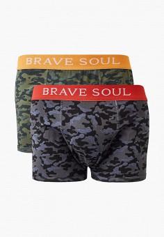 Комплект, Brave Soul, цвет: серый, хаки. Артикул: BR019EMFHDF4. Одежда / Нижнее белье