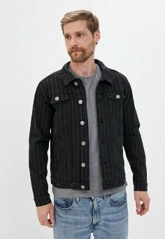 Куртка джинсовая, Brave Soul, цвет: черный. Артикул: BR019EMILGC5. Одежда / Верхняя одежда / Джинсовые куртки