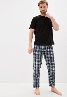 Комплект домашний, Brave Soul, цвет: синий, черный. Артикул: BR019EMISCY4. Одежда / Домашняя одежда