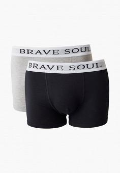 Комплект, Brave Soul, цвет: серый, черный. Артикул: BR019EMIXBS7. Одежда / Нижнее белье