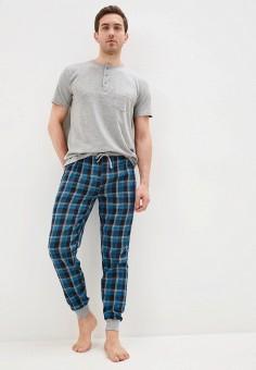 Комплект домашний, Brave Soul, цвет: серый, синий. Артикул: BR019EMIXBU0. Одежда / Домашняя одежда