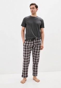 Пижама, Brave Soul, цвет: серый. Артикул: BR019EMIXBU2. Одежда / Домашняя одежда