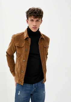 Куртка джинсовая, Brave Soul, цвет: бежевый. Артикул: BR019EMJXDF5. Одежда / Верхняя одежда / Джинсовые куртки