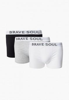 Комплект, Brave Soul, цвет: белый, серый, черный. Артикул: BR019EMKCFI3. Одежда / Нижнее белье